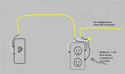 wiring a switched outlet diagram power to receptacle