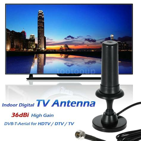 indoor digital tv antenna 36dbi high gain vhf uhf dvb t