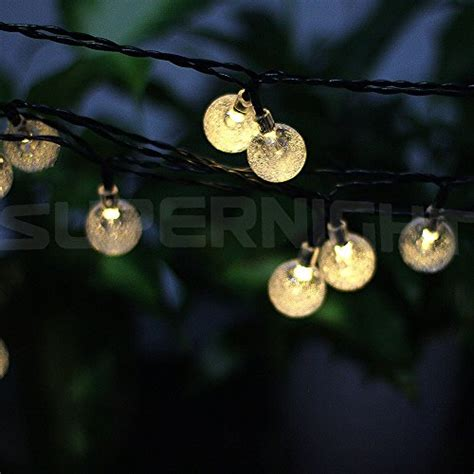 Led Solar String Lights Outdoor Supernight 6m 30 Led Solar Powered Outdoor String Lights For Outside Garden Patio