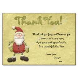 jolly santa thank you note