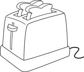 Electric Toaster Line Art sketch template