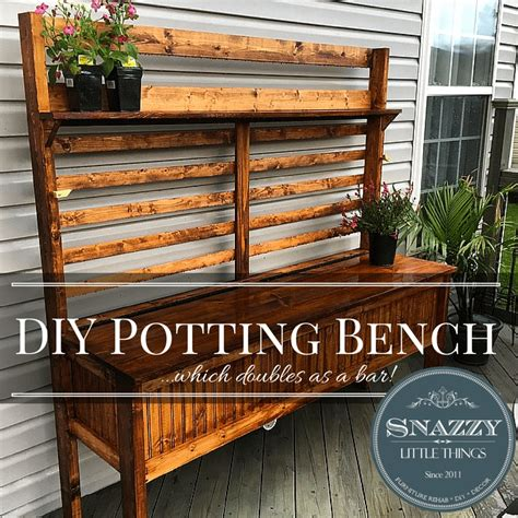 Diy Potting Bench For 75 Snazzy Little Things