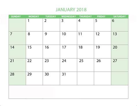 Calendar 2018 January Template January 2018 Personalised Calendar Templates Tools