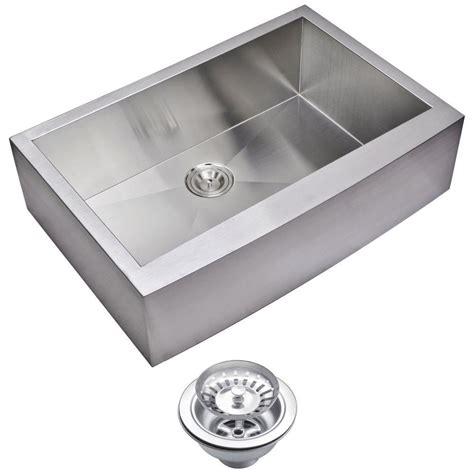 Stainless Steel Apron Front Kitchen Sink Water Creation Farmhouse Apron Front Zero Radius Stainless