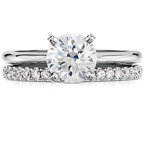 solitaire engagement ring in 14k white gold blue nile