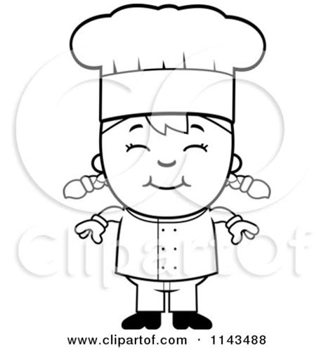 girl chef coloring page 450px