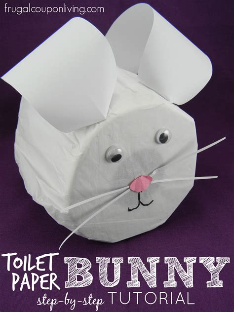 Toilet Paper Easter Bunny Craft - step by step toilet paper bunny tutorial easter craft