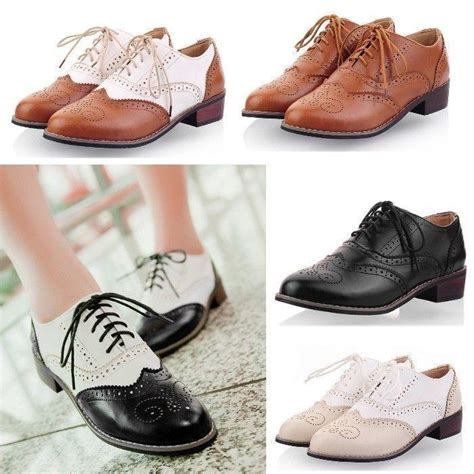 womens size 12 oxford shoes womens oxford wingtip brogues preppy lace up preppy