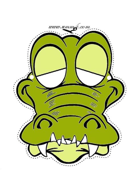printable lizard mask template cute cartoon crocodile or alligator mask printable