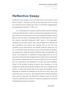 Reflective Essay Thesis by Reflective Essay On New Perspectives On Leadership