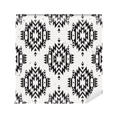 changing pattern of tribal livelihoods vector grunge monochrome seamless decorative ethnic