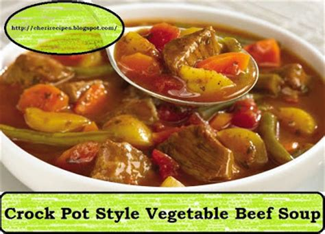 vegetable soup recipe style cheryl s tasty home cooking crock pot style vegetable