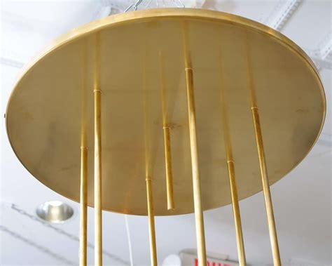 Bubbles Light Fixture Large Italian Brass And Glass Light Fixture At 1stdibs