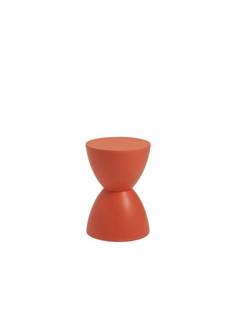 Orange Coloured Stool by Bombay Stool Modern Furniture Brickell Collection