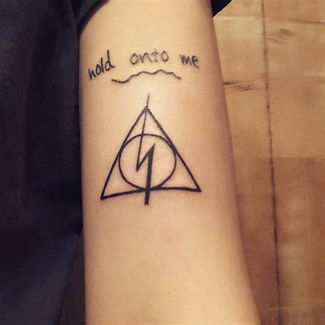 pictures tattoos deathly hallows designs ideas and meaning