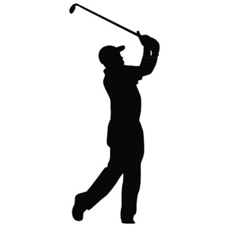 golf swing silhouette golf black silhouette shadow photo cutouts zazzle