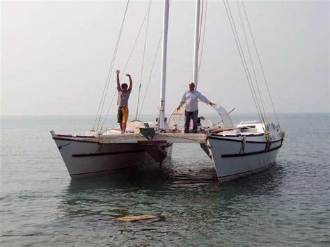 catamaran or sailing boat complete build sailing boat khan