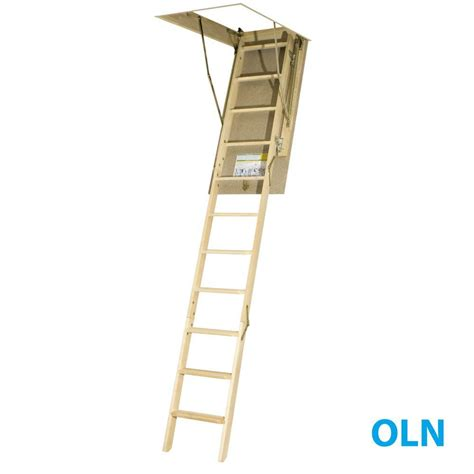 fakro 10 ft 54 in x 22 1 2 in wood attic ladder with