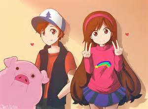 mã bel de gravity falls mabel dipper and waddles by herrdeschaos