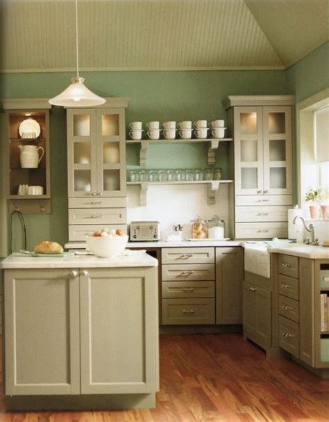 green kitchen color schemes color combination country kitchens with white cabinets