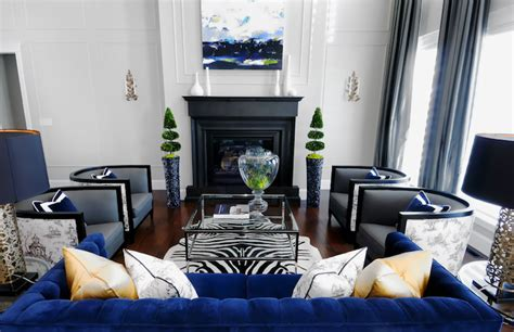 Living Room Interior Design Blue Blue Velvet Sofa Contemporary Living Room Atmosphere