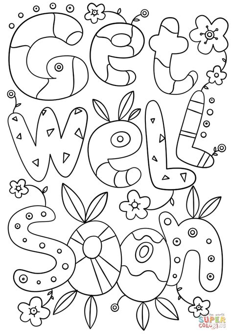 Coloring Pages Get Well Card Printable Coloring Pages