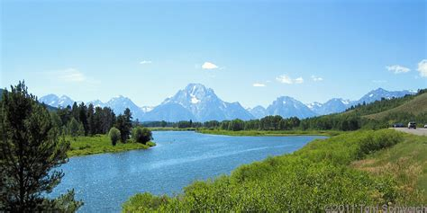 Teton County Records Photo The View From Oxbow Bend Turnout