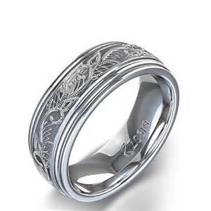 wedding ring mens vintage scroll design s wedding ring in 14k white gold australia