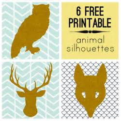 printable decor 6 modern free printable animal silhouettes printable decor