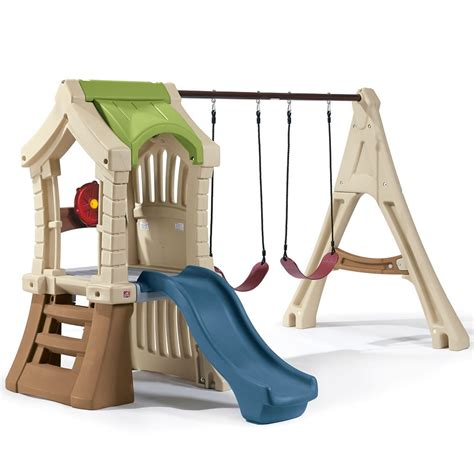 troline swing set combo swing and play backyard combo kids toy combo step2