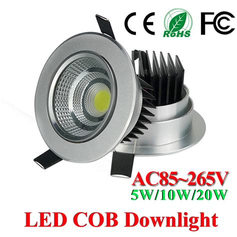 Downlight Kaca Led 5w 3 Cahaya White Cool White Warm White aliexpress buy sale led downlight 5w 10w 20w cob led ceiling spot light warm cool