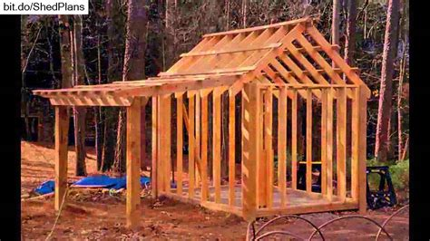 A Frame Cabin Floor Plans With Loft by Shed Plans 10x12 12x16 Shed Plans Youtube