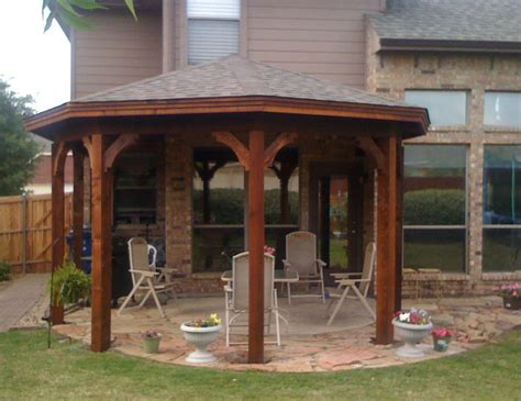 Covered Gazebos For Patios Gazebo Type Patio Cover In Mckinney Tx Hundt Patio Covers And Decks