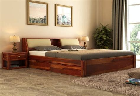 Double Beds : Best Double Bed (??? ???) Online Upto 55% off @ Wooden Street