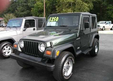 1997 Jeep Manual 1997 Jeep Wrangler 4wd Custom Sport Utility Olive Green