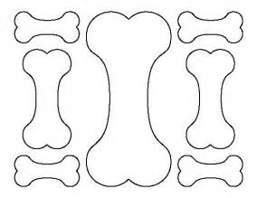 Free Scrapbook Templates To Print by Bone Pattern Use The Printable Outline For Crafts
