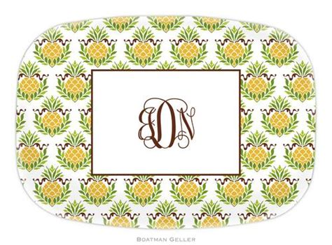 Whitney Design Home Essentials by Personalized Melamine Pineapple Repeat Platter From