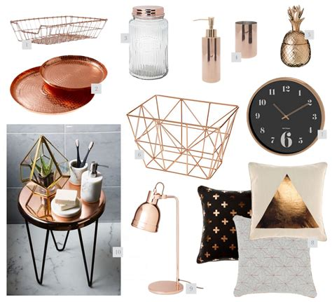 gold home decor accessories rose gold home decor