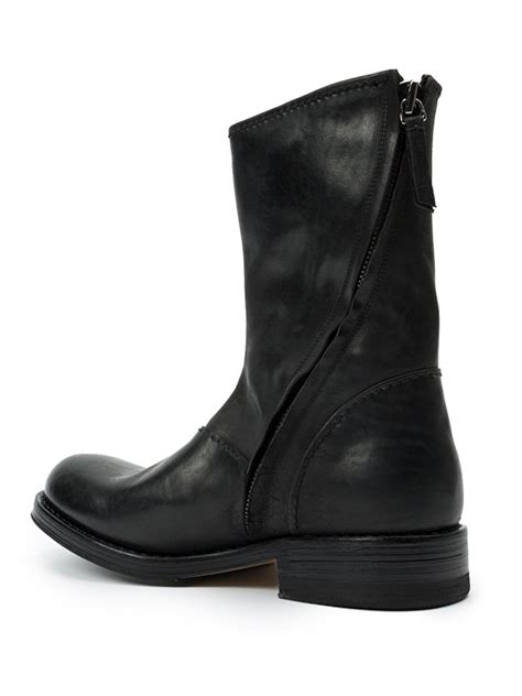 side zip boots premiata side zip boots in black for lyst