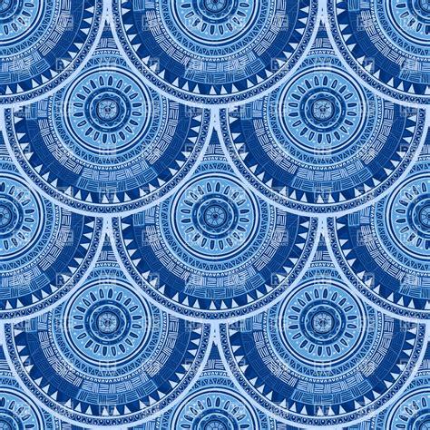 motif pattern design fish scale design seamless pattern with ethnic motif