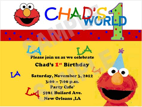 elmo birthday card template solutions event design by elmo 1st birthday invitations