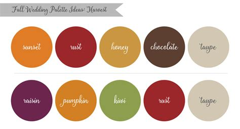 harvest colors inspired by nature fall wedding palette ideas