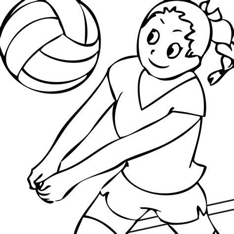 coloring pages volleyball girl volleyball coloring pages to download and print for free