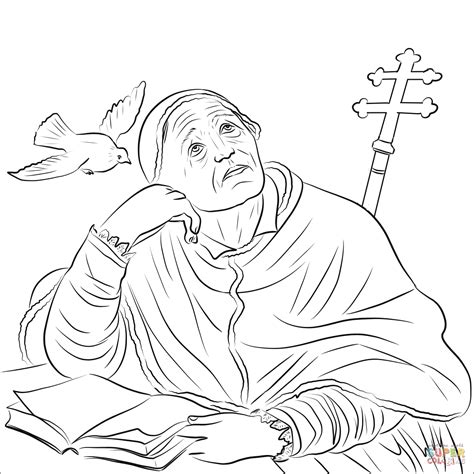 st coloring pages st gregory the great coloring page free printable