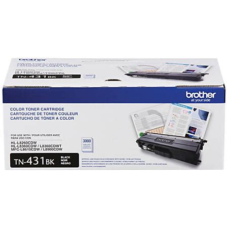brother tn820 black toner cartridge by office depot brother tn431bk black toner cartridge by office depot