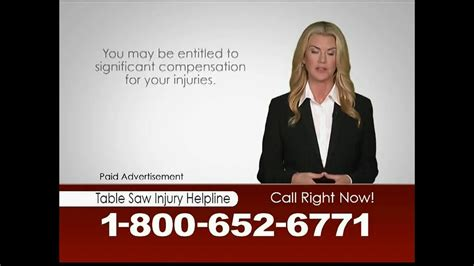 table saw injury helpline heygood orr and pearson tv commercial table saw injury