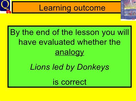 Lions Led By Donkeys Essay by Lionsledbydonkeys