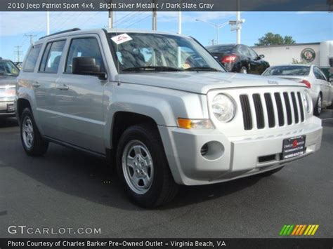 silver jeep patriot interior bright silver metallic 2010 jeep patriot sport 4x4