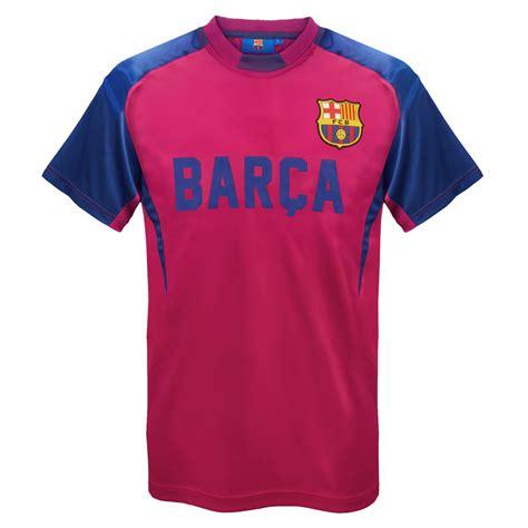 Tshirt Barcelona Navy fc barcelona official football gift mens poly kit t shirt ebay