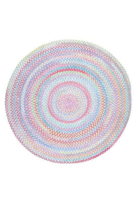 medium blue babys breath braided chenille rug custom
